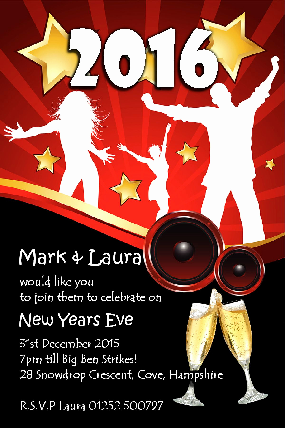 New Year Party Invitation New 10 Personalised New Years Eve Party Invitations No5
