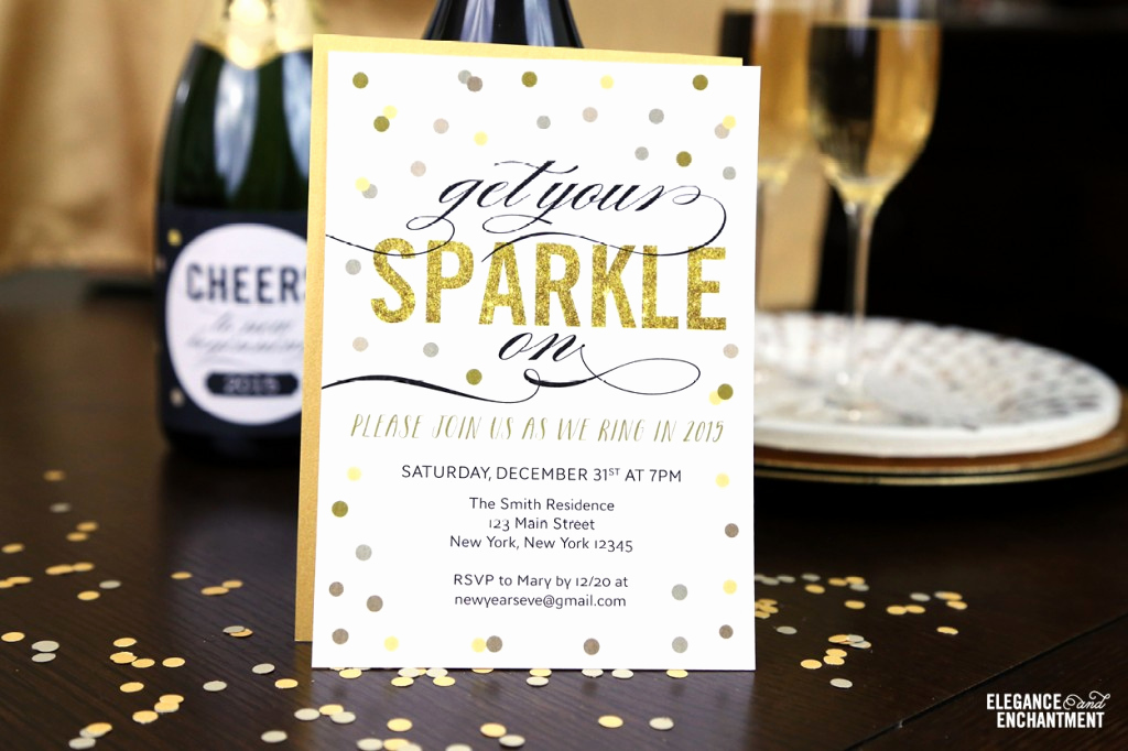 New Year Party Invitation New Free Printable New Year S Eve Party Invitation