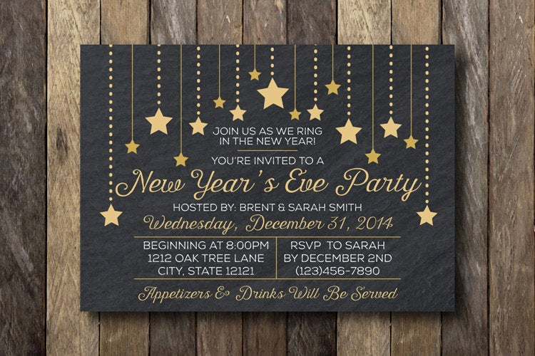 New Year Party Invitation New New Year S Eve Party Invitation New Year S by