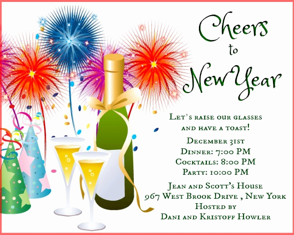 New Year Party Invitation Template Awesome New Year Party Invitation Wording 365greetings