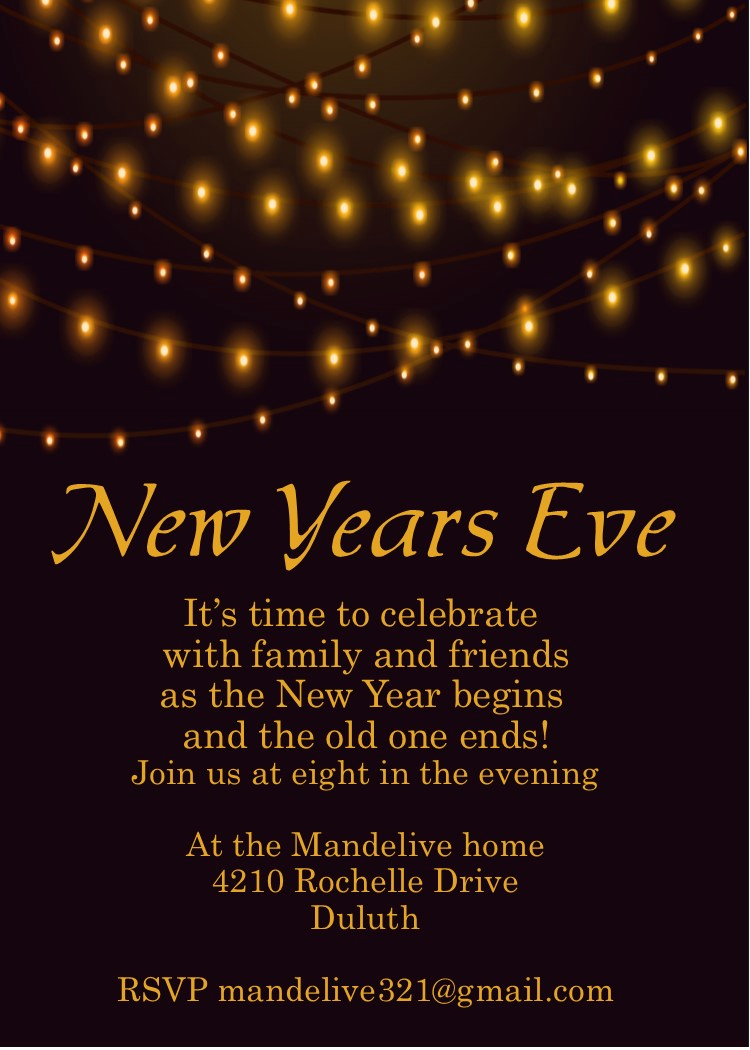 New Year Party Invitation Template Beautiful New Year S Eve Party Invitations 2018