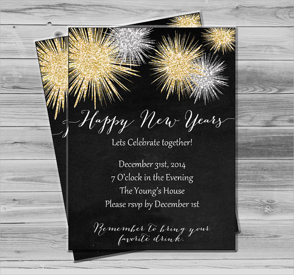 New Year Party Invitation Template Beautiful Sample New Year Invitation Templates 24 Download