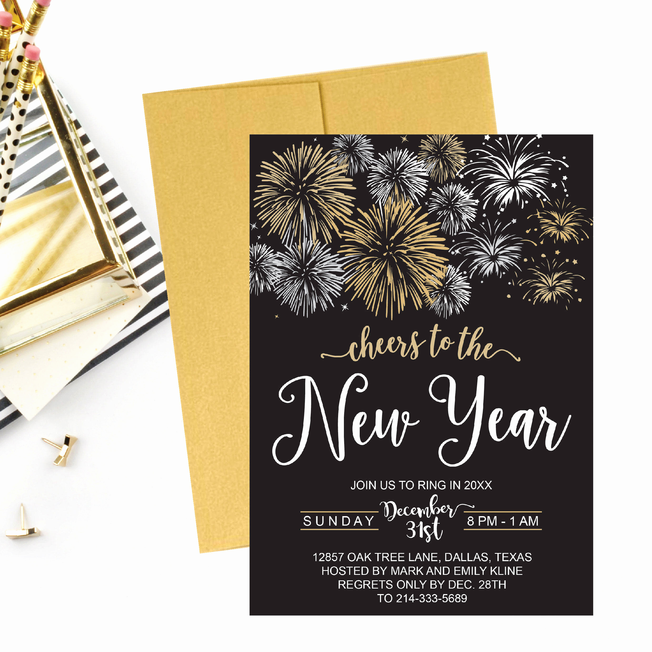 New Year Party Invitation Template Fresh New Year S Eve Party Invitation Template Elegant Black