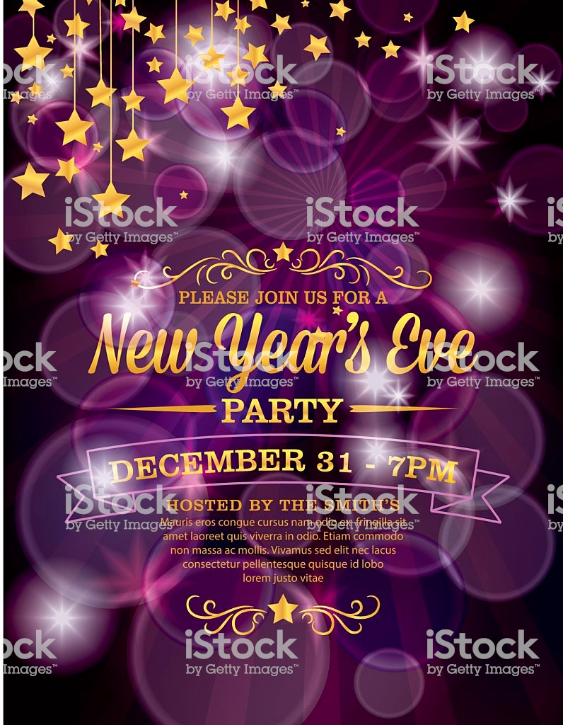 New Year Party Invitation Template Lovely New Years Eve Party Invitation Template Stock Vector Art