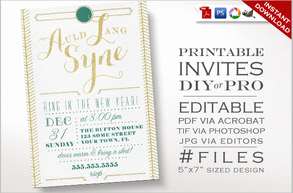 New Year Party Invitation Template New 28 New Year Invitation Templates – Free Word Pdf Psd