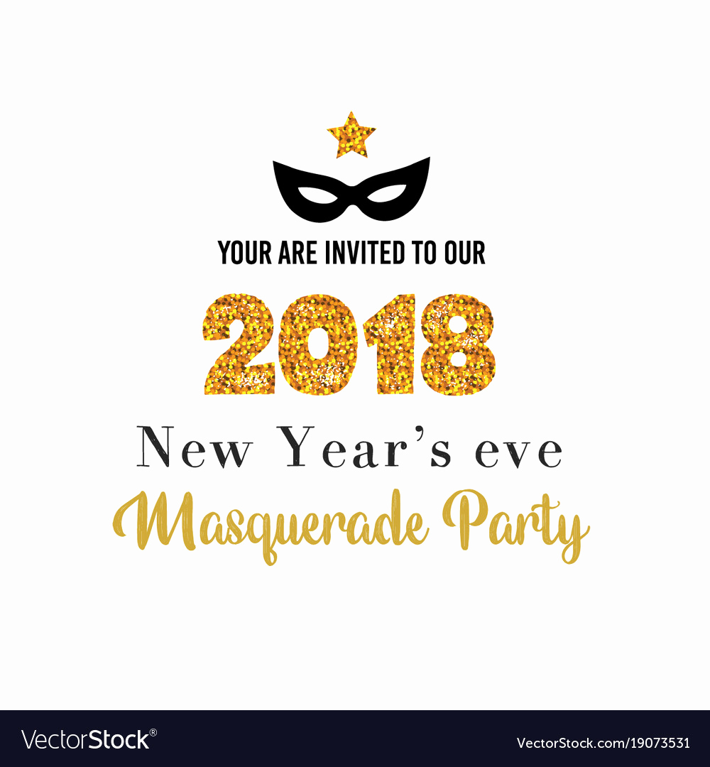 New Year Party Invitation Template New New Year Party Invitation Template Royalty Free Vector Image