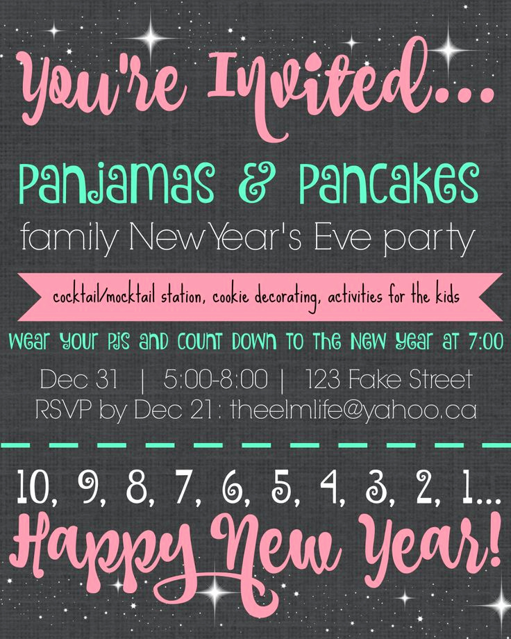 New Year Party Invitation Template Unique 1000 Ideas About New Years Countdown On Pinterest