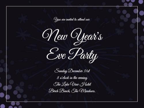 New Year Party Invitation Template Unique New Years Eve Day Create Perfect Invitations with Design