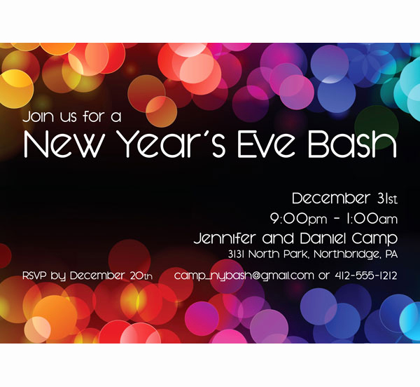 New Year Party Invitation Wording Awesome A New Years Colors Party Invitation