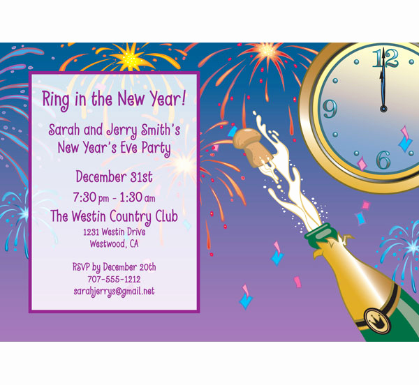 New Year Party Invitation Wording Elegant A New Years Eve toast Invitation