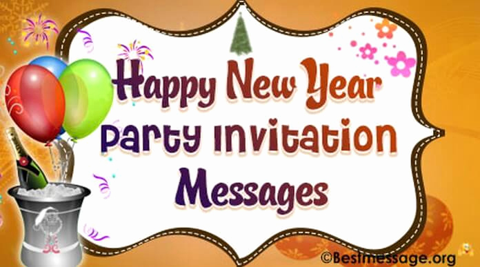 New Year Party Invitation Wording Elegant Exquisite New Year Party Invitation Wishes Messages