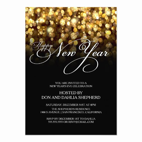 New Year Party Invitation Wording Elegant Happy New Year S Eve Party Invitation