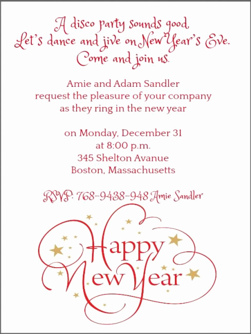 New Year Party Invitation Wording Inspirational New Year Party Invitation Wording 365greetings