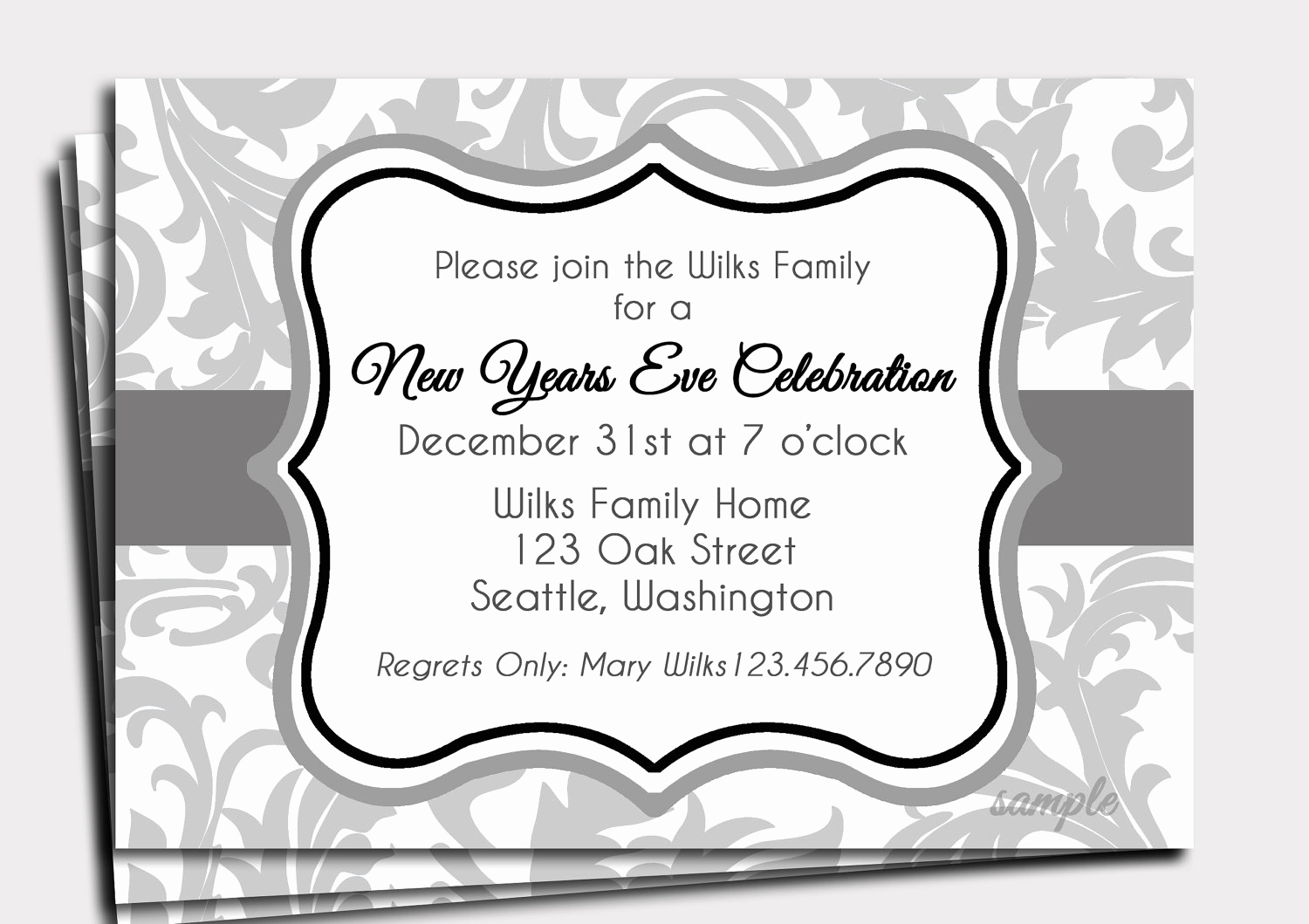 New Year Party Invitation Wording Inspirational New Year S Eve Invitation Printable or Printed with Free