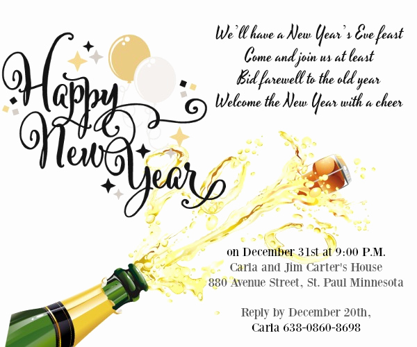 New Year Party Invitation Wording Lovely New Year Party Invitation Wording 365greetings