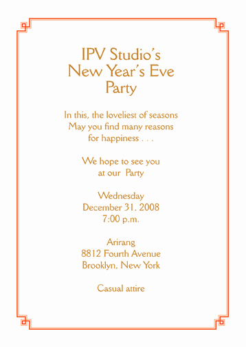 New Year Party Invitation Wording Unique New Year S Eve Party Invitation ⋆ Ipv Studio