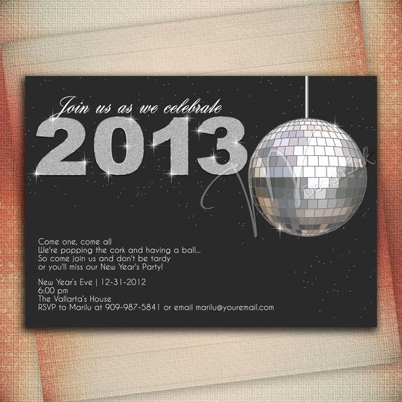 New Year Party Invitation Wording Unique New Years Eve Party Invitation Crystal Ball Drop by