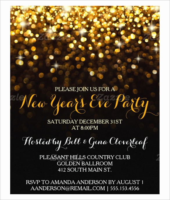 New Years Eve Invitation Template Awesome 28 New Year Invitation Templates – Free Word Pdf Psd