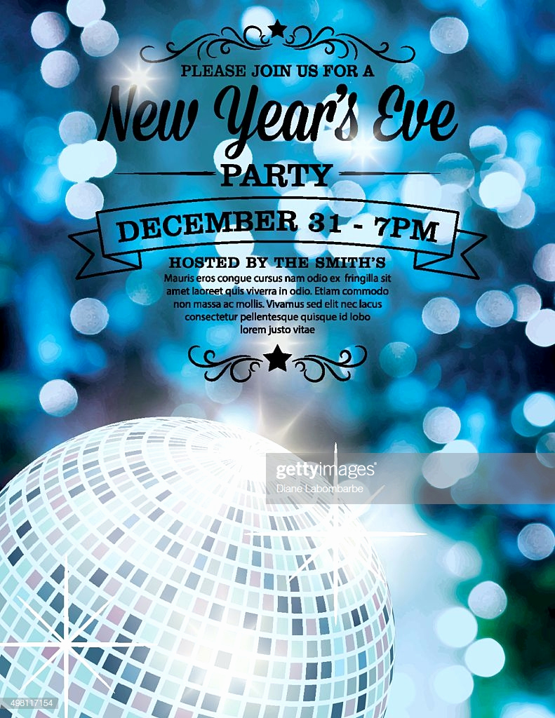 New Years Eve Invitation Template Awesome New Years Eve Party Invitation Template Vector Art