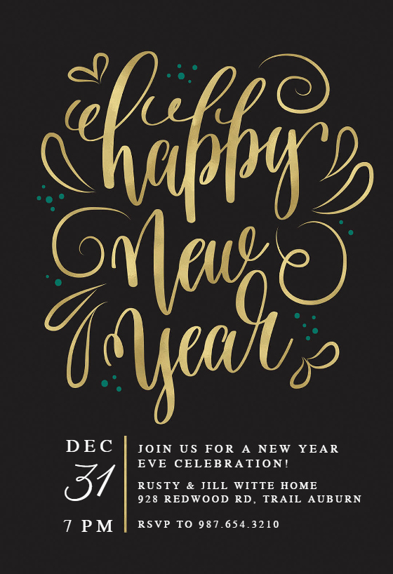New Years Eve Invitation Template Awesome New Years Swirls New Year Invitation Template Free