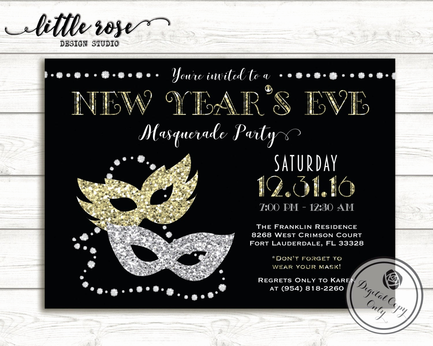 New Years Eve Invitation Template Best Of New Year S Eve Masquerade Party Invitation Nye Party