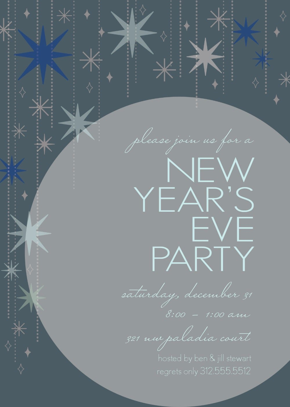 New Years Eve Invitation Template Elegant New Years Eve Party Invitation Templates