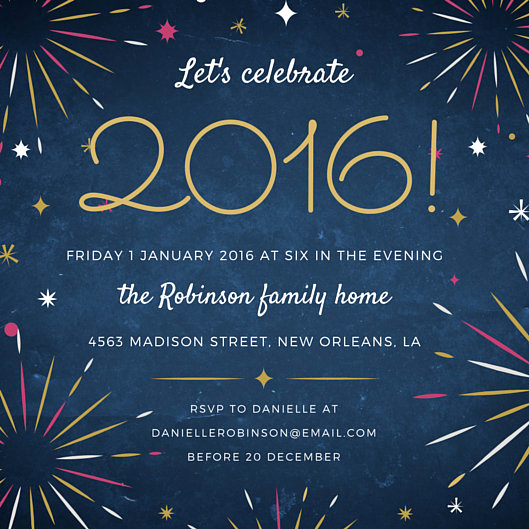 New Years Eve Invitation Template Fresh Fireworks New Year S Eve Party Invitation Templates by Canva