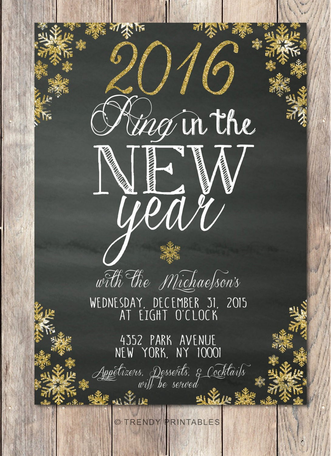 New Years Eve Invitation Template Inspirational New Years Eve Party Invitation New Years by Trendyprintables