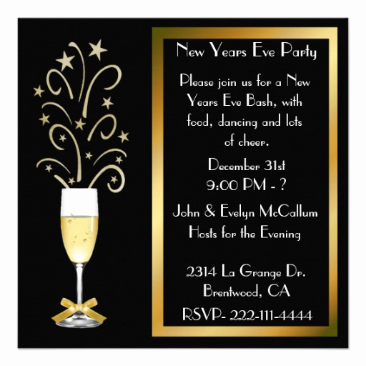 "New Years Eve Invitation Template Inspirational New Years Eve Party Invitations 5 25"" Square Invitation"
