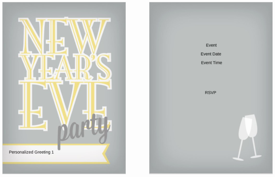New Years Eve Invitation Template Lovely 10 Free New Year S Eve Party Invitation Templates