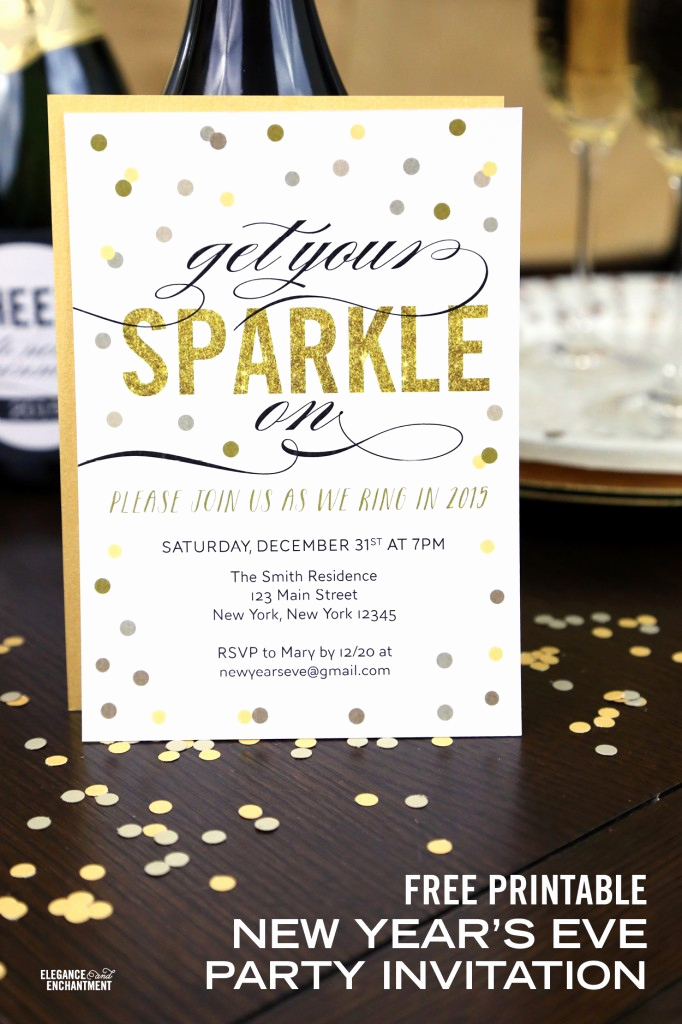 New Years Eve Invitation Template Lovely Free Printable New Year S Eve Party Invitation