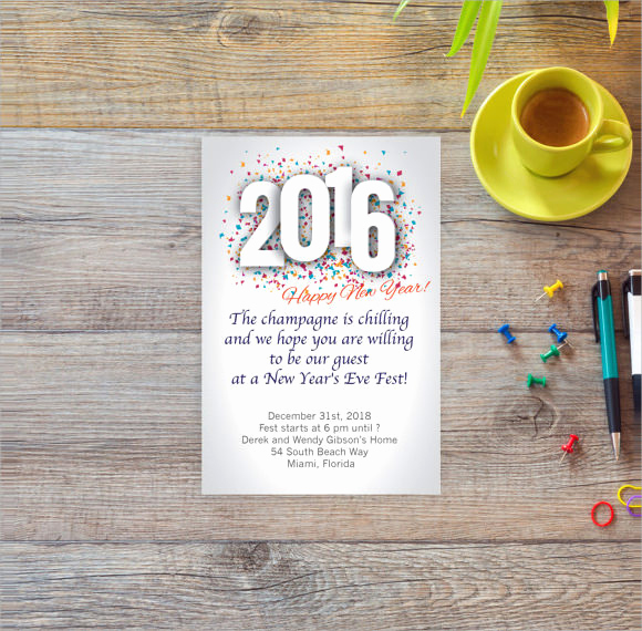 New Years Eve Invitation Template Luxury New Year Party Flyer Template 34 Download Documents In