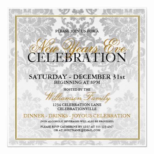 New Years Eve Invitation Templates Elegant New Years Eve Party Invitation