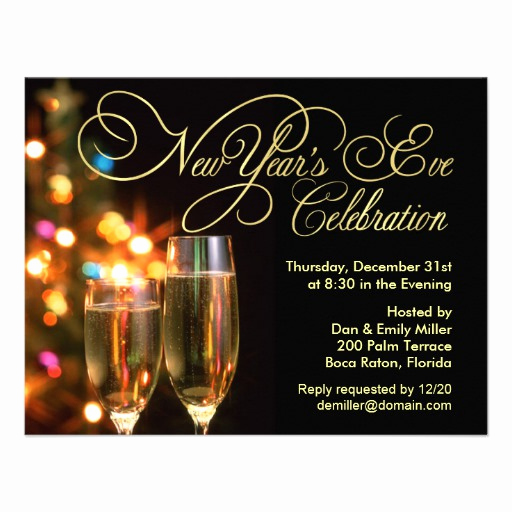 "New Years Eve Invitation Templates Fresh New Year S Eve Party Invitations 4 25"" X 5 5"" Invitation"