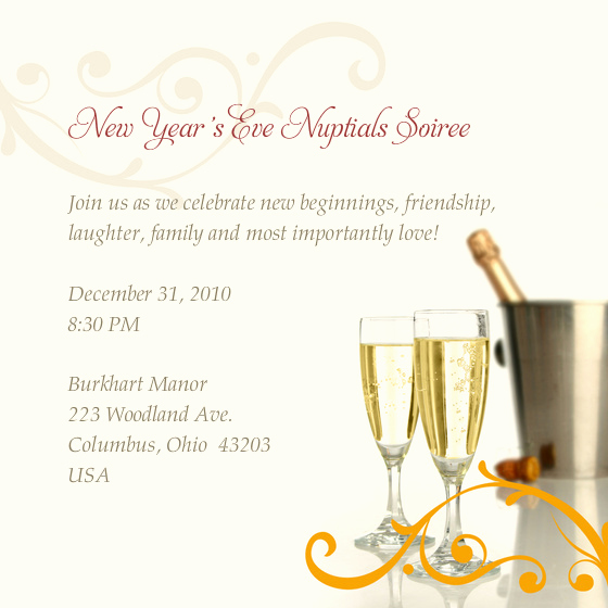 New Years Eve Invitation Templates Inspirational New Year S Eve Nuptials soiree Line Invitations & Cards
