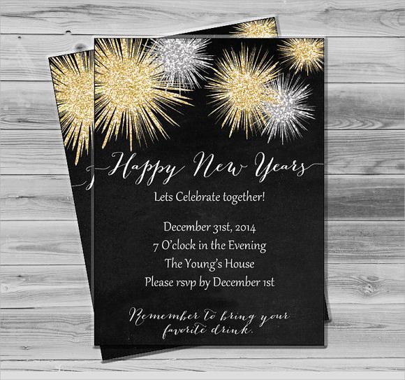 New Years Eve Invitation Templates Inspirational Sample New Year Invitation Templates 24 Download