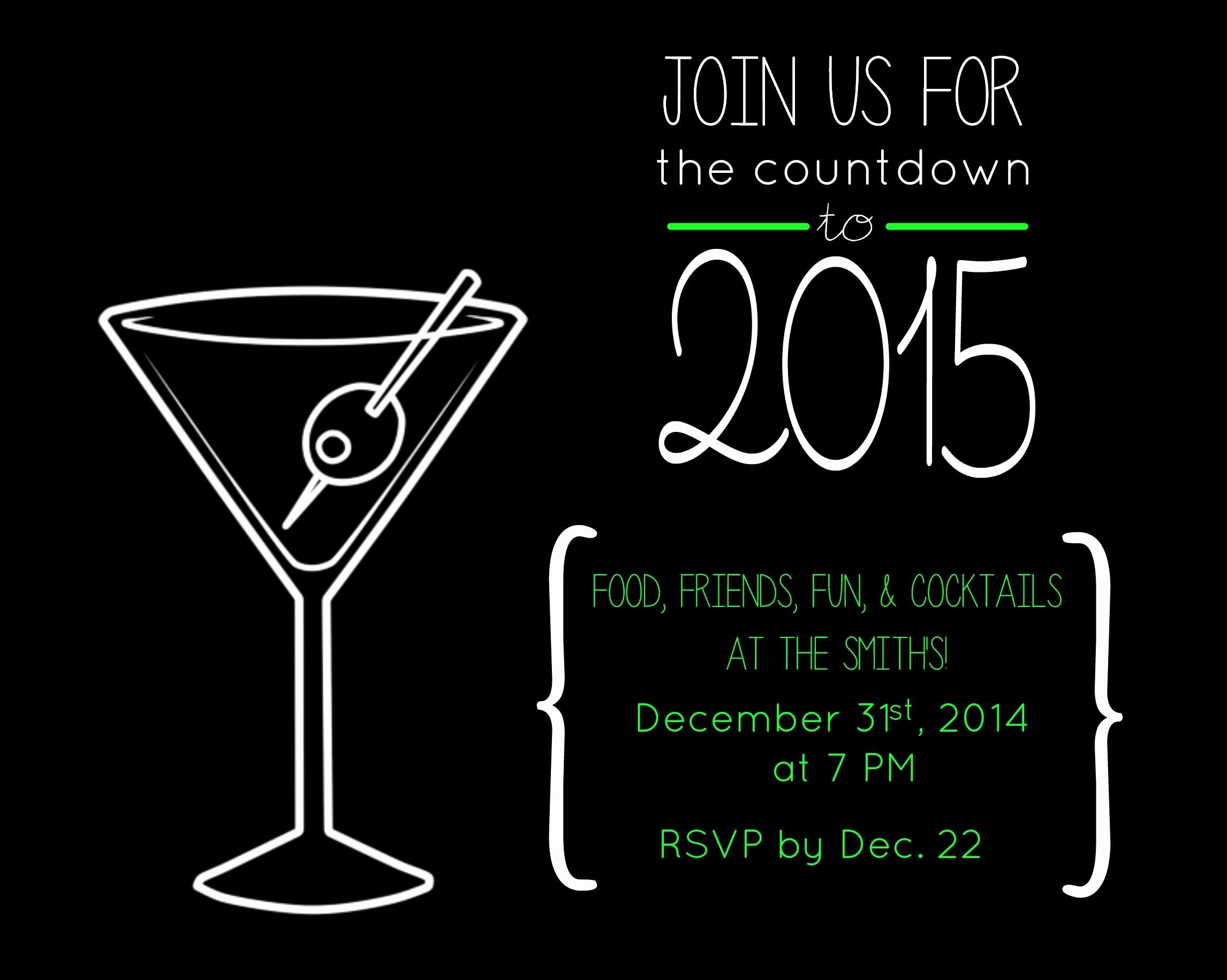 New Years Eve Invitation Templates Luxury Free New Year's Eve Party Invite to Print or Send