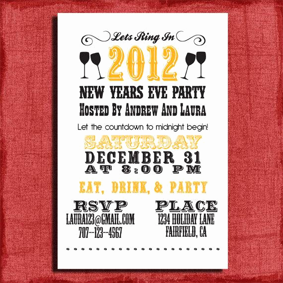 New Years Eve Invitation Templates Luxury Items Similar to New Years Eve Party Invitation 4x6