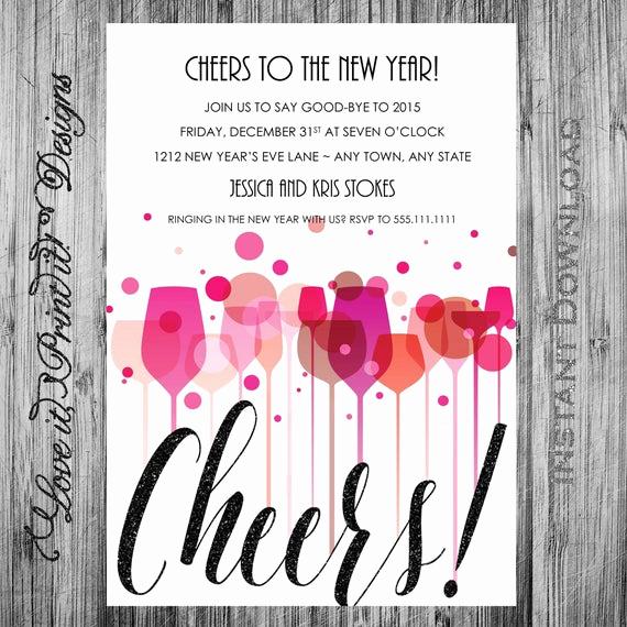New Years Eve Invitation Templates Luxury New Year S Eve Party Invitation Diy Template Cheers New