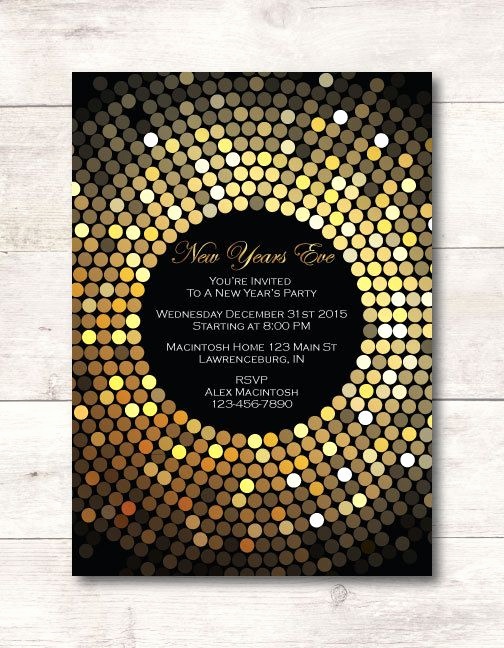 New Years Eve Invitation Templates New 17 Best Images About New Years Eve On Pinterest
