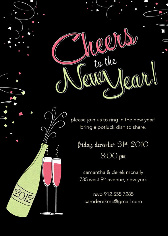 New Years Eve Invitation Templates New 28 New Year Invitation Templates – Free Word Pdf Psd