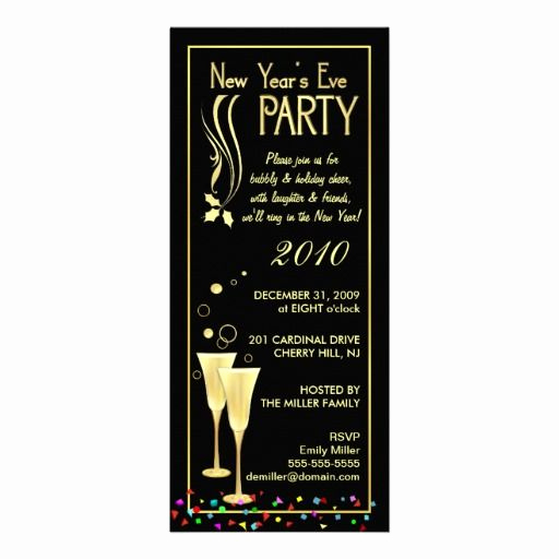 New Years Eve Invitation Wording Unique New Years Eve Party Invitations Slim Cards