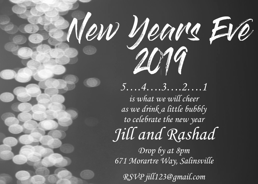 New Years Invitation 2019 Awesome New Year S Eve Party Invitations 2019