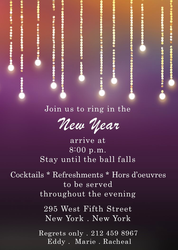 New Years Invitation 2019 Beautiful New Year S Eve Party Invitations 2019