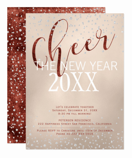 New Years Invitation 2019 Inspirational 2019 New Year S Party Invitations
