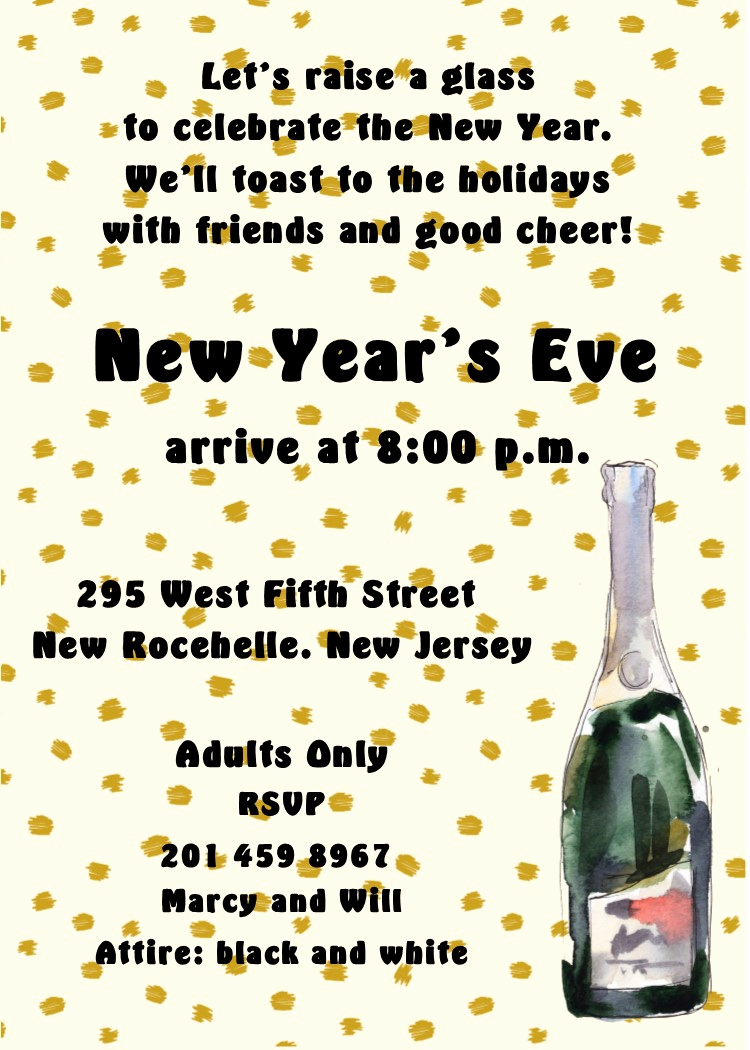 New Years Invitation 2019 Inspirational New Year S Eve Party Invitations 2019