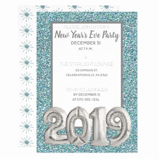 New Years Invitation 2019 Lovely Silver Balloon 2019 New Year S Eve Party Invitation