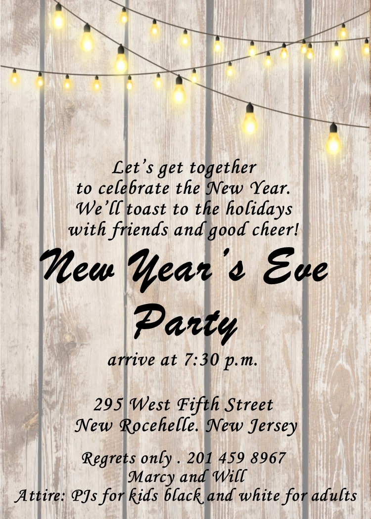 New Years Invitation 2019 Luxury New Year S Eve Party Invitations 2019