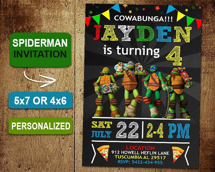Ninja Turtle Birthday Invitation Beautiful Ninja Turtle Birthday Invitation Ninja Turtles Invitations