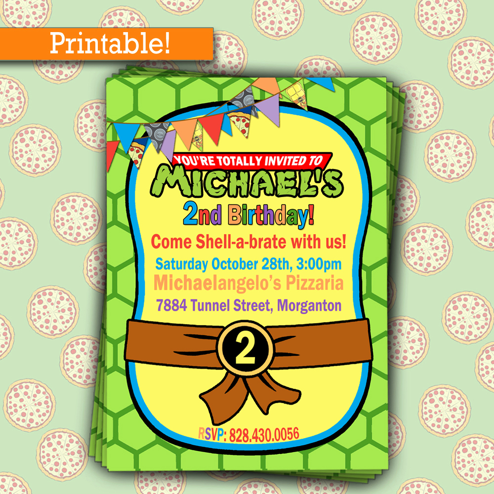 Ninja Turtle Birthday Invitation Template Elegant Free Printable Ninja Turtle Party Invitations